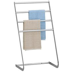4 Tier Freestanding Chrome-Plated Towel Rack, Laundry Hang a