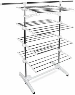 4 Tier Laundry Clothes Drying Airer Rack Indoor Outdoor Fold