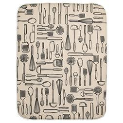 InterDesign 40410 iDry Absorbent Kitchen Countertop Dish Dry