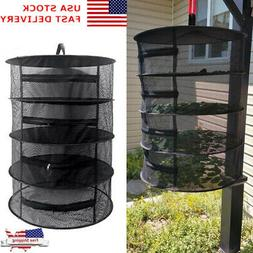 Herb Drying Rack Net Collapsible Steel Ring Mesh Hanging Dry