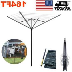 50M Drying Rack Outdoor Portable Rotary Clothesline Laundry