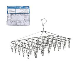 Rosefray 52 Clips Metal Clothespins, Folding Stainless Steel