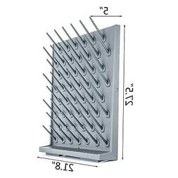 52 Pegs Lab Supply Drying Rack, Pegboard Bench-top/Wall-Moun