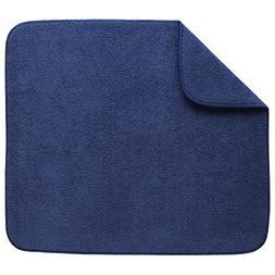 Kitchen Basics 594301 Reversible Dish Drying Mat, Large, Blu
