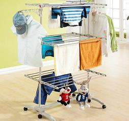 6 Tiers Clothes Hanger Laundry Drying Hanging Foldable Rack
