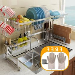 65 85cm utensil dish drying rack over