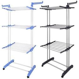 """66"""" Laundry Clothes Storage Drying Rack Portable Folding Dry"""