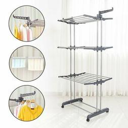 "70"" Laundry Clothes Storage Drying Rack Portable Folding Dry"