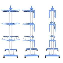 """71"""" Laundry Clothes Storage Drying Rack Portable Folding Dry"""