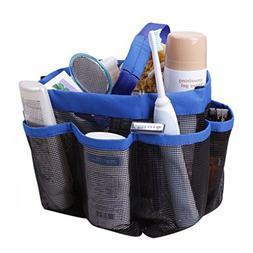 JINTA 8 Pockets Shower Tote Bag Mesh Shower Caddy Oxford Clo