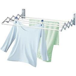 80cm Wall Mounted Expandable Cloth Drying Towel Rack Retract
