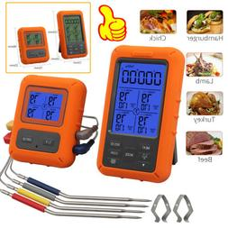 Wireless Digital Meat Thermometer 4 Probes For Grilling BBQ