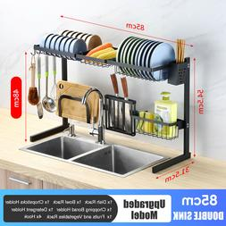 85cm Kitchen Home Holde 2 Tier Stainless Steel Over Sink Dis