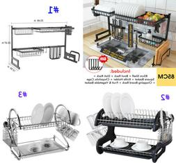 85cm Sink Dish Drying Rack Drainer Stainless Steel Kitchen C