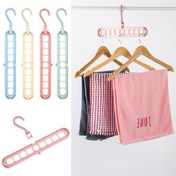 9 Hole Clothes Hanger Drying Rack Foldable Hanger Storage Ra