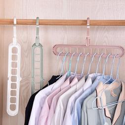 9-Hole Support Circle Clothes Hanger <font><b>organizer</b><