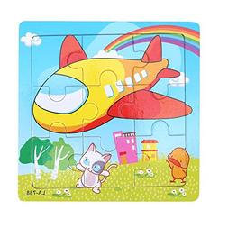 Akaddy 1pc Kids 9 Parts Puzzle Educational Toy Development W