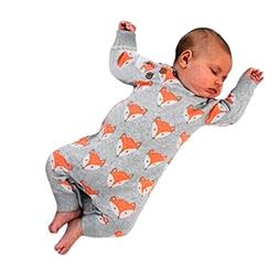 Baby Boy Girl Romper Infant Fox Jumpsuit Long Sleeves Outfit