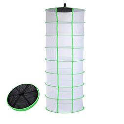 BoHoFarm Drying Rack Herb Drying Net Herb Dryer W/Carry Bag