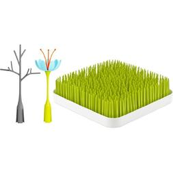 Boon Grass and Stem and Twig, Green + Blue/Orange + Gray