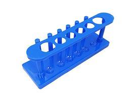Blue Plastic 6 Hole Test Tube Rack