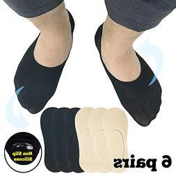 CoreChord Mens Grips Moisture Socks Black Beige,Shoe size 10
