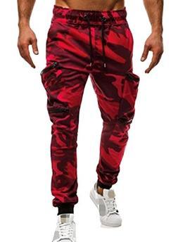 CrazyDay Mens Zipper Lounge Camouflage Color Drawstring Mult