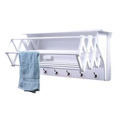 Danya B Accordion Clothes Drying Rack, Retractable, Wall Mou
