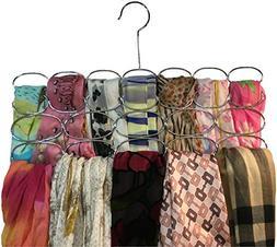 Durable Steel Scarf, Tie, Belt hanger organizer holder rack