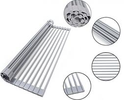 ESYLIFE Over the Sink Roll-up Dish Drying Rack Multipurpose