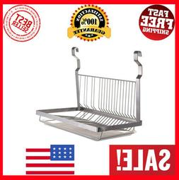 ESYLIFE Stainless Steel Hanging Dish Drying Rack with Drain
