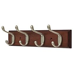 "Franklin Brass FBHDCH4-511-R, 16"" Hook Rail / Rack, with 4 H"