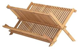 Helen's Asian Kitchen Bamboo Foldable Compact Dish Drying