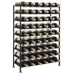 ZENY Deluxe 54 Bottles 9 Tier Foldable Freestanding Wine Rac