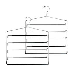 Honey-Can-Do HNGT01202 Five-Tier Swinging Arm Pant Rack Blac