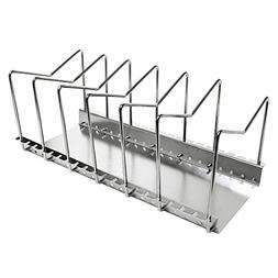 Kes Stainless Steel Dish Rack Kitchen Pot Pan Lid Cutting Bo
