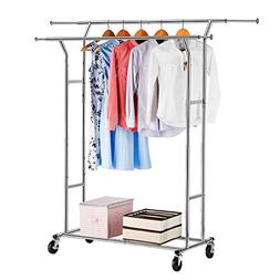 LANGRIA Double Rail Garment Racks Clothes Racks Commercial G