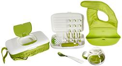 OXO Tot On-The-Go Essentials Value Set with Roll-up Bib, Fee