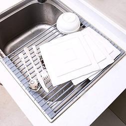 Over Sink Roll Up Dish Drying Rack, Ohuhu Multipurpose Dishe