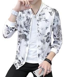 Pandapang Men Sun-Protect Coat Casual Full-up Long Sleeve Pr