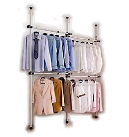 Portable Indoor Garment Rack Tools-free DIY Coat Hanger Clot