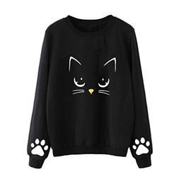 Pumsun ⭐️ Women Autumn&Winter Sweater Cat Weater Round N