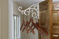 Scroll - Over the door hanger holder: White