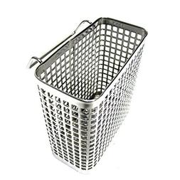 Small Square Stainless Steel Perforated Cutlery Basket Sink