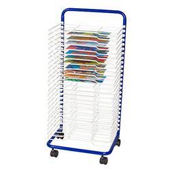 "Sprogs Art Drying Rack, 17 1/2"" W x 14 1/2"" D x 38"" H, Blue/"