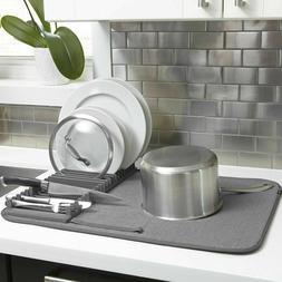 Umbra 330720-149 UDRY Drying Rack and Microfiber Dish Mat, 2