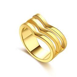 Unisex Charms Jewelry Gold Plated Romantic Geometry Zircon S