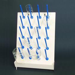 United Scientific 81741 Plastic Drying/Draining Rack, 20 Pla