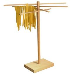 "Weston Bamboo Pasta Drying Rack , 10 Drying Arms, 16"" Tall,"