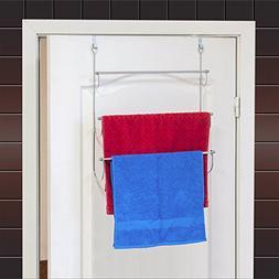 ArtMoon Above Over Door 3-Tier Towel Rack With 2 Hooks Chrom